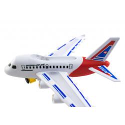 Samolot biały pasażerski na baterie