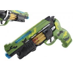 Rewolwer pistolet zabawkowy światło dźwięk