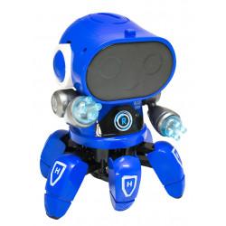 Niebieski robot zabawka