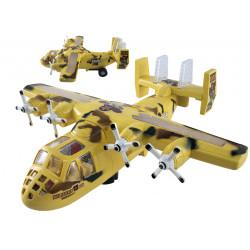 Samolot beżowy wojskowy zabawka