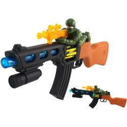 Zabawka karabin dla dzieci z strzelcem na baterie