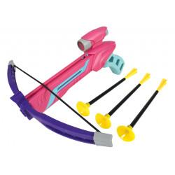 Kusza zabawka różowa strzałki