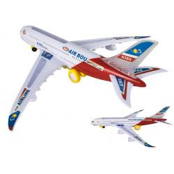 Samolot zabawka biało czerwony świeci wydaje dźwięk
