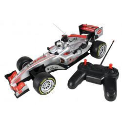 Srebrne autko wyścigowe RC car