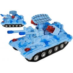 Niebieski czołg na baterie zabawka