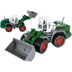 Koparka zabawka zielona dla dzieci z napędem