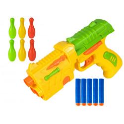 Zestaw pistolet na strzałki żółty