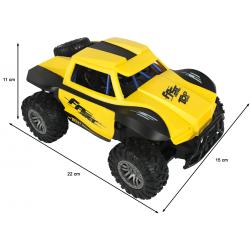 Auto terenowe na sterowanie żółte